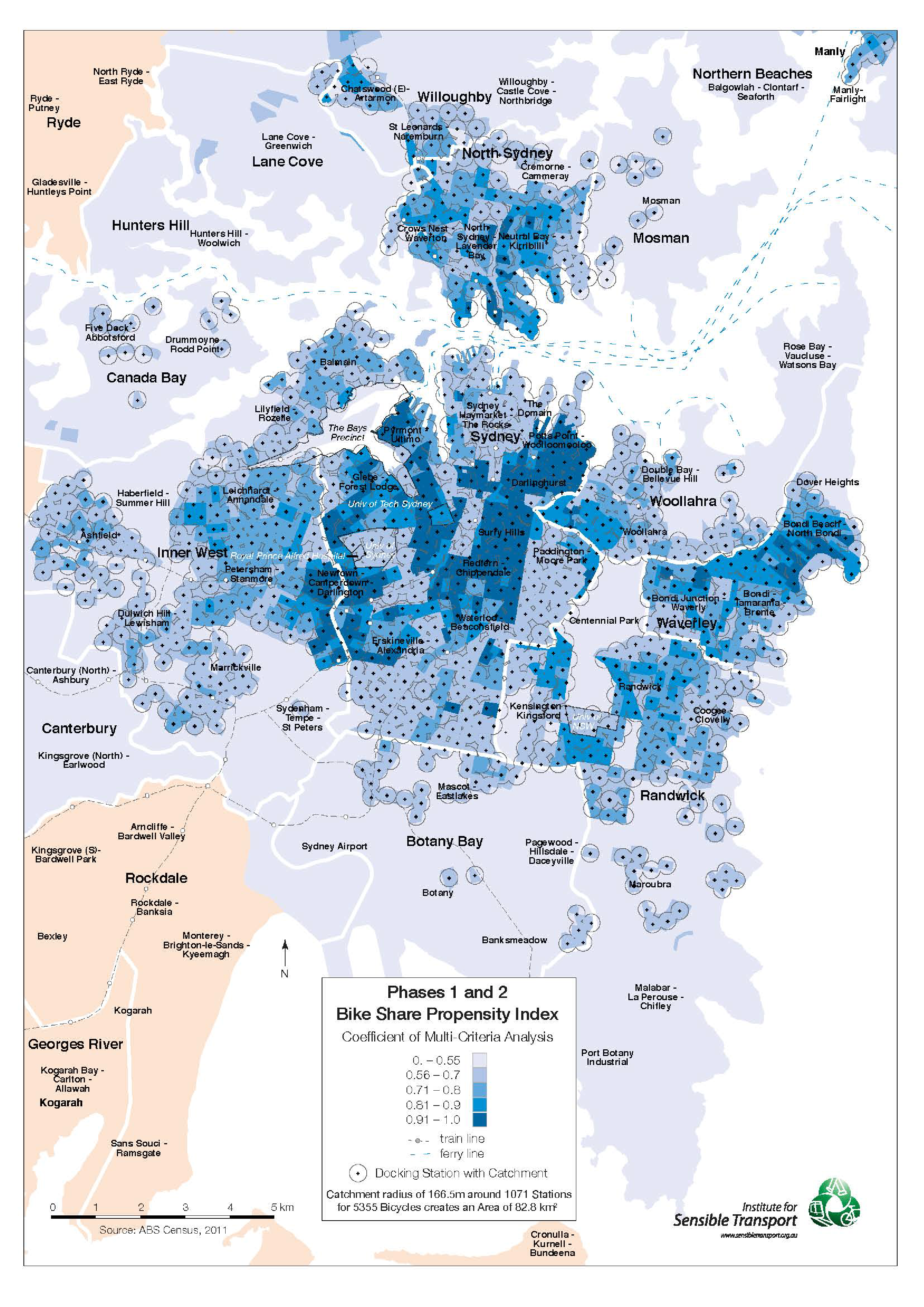 Bike Share Catchment Map (proposed) and Propensity Index